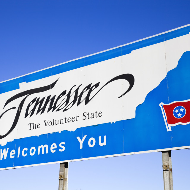 """Welcome to Tennessee"" stock image"