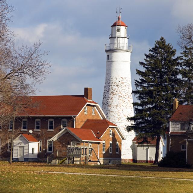 """Fort Gratiot Lighthouse"" stock image"