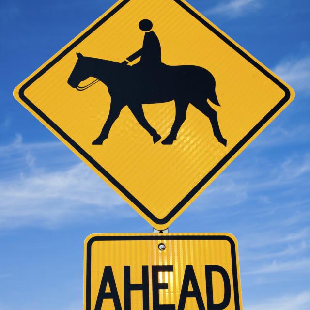 """""""Horseback Riding sign"""" stock image"""