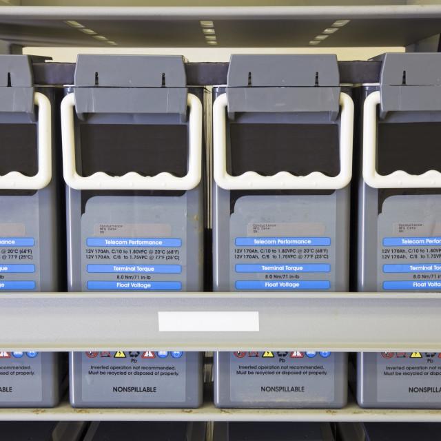 """""""Battery Backup Unit"""" stock image"""