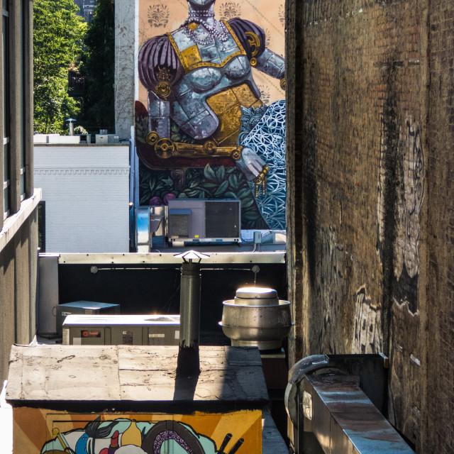 """NYC Street Art"" stock image"