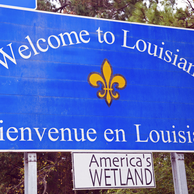 """Welcome to Louisiana"" stock image"