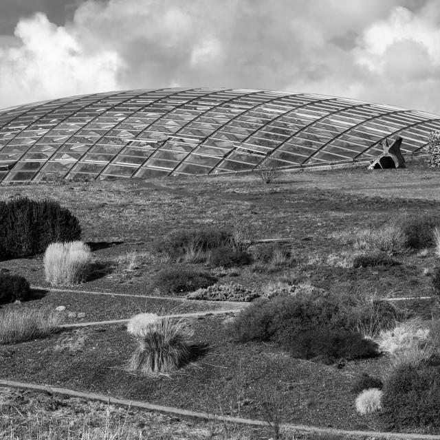 """The Glass Dome in Mono"" stock image"