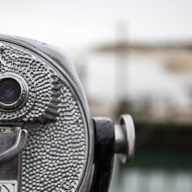 """""""View Scope, Chatham Harbour"""" stock image"""