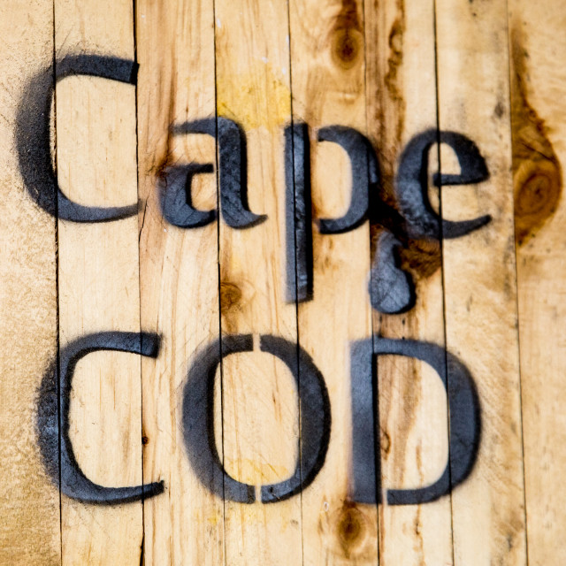 """""""Cape Dod Sign"""" stock image"""