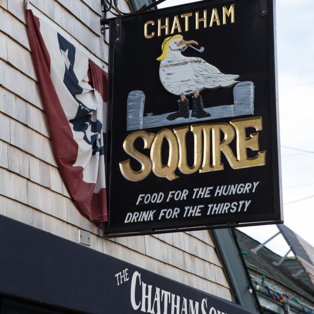 """""""Chatham Squire Inn"""" stock image"""