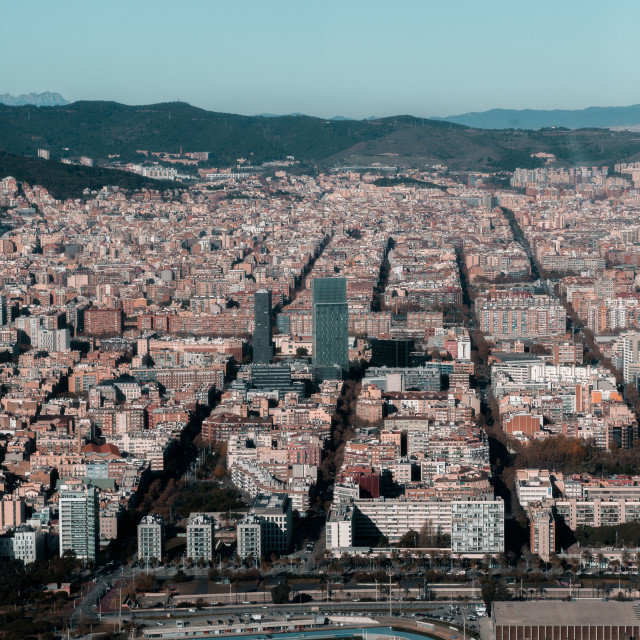 """the big city of barca"" stock image"