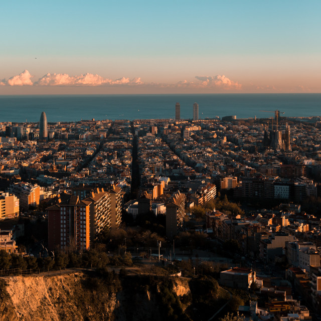 """out to sea from barcelona"" stock image"
