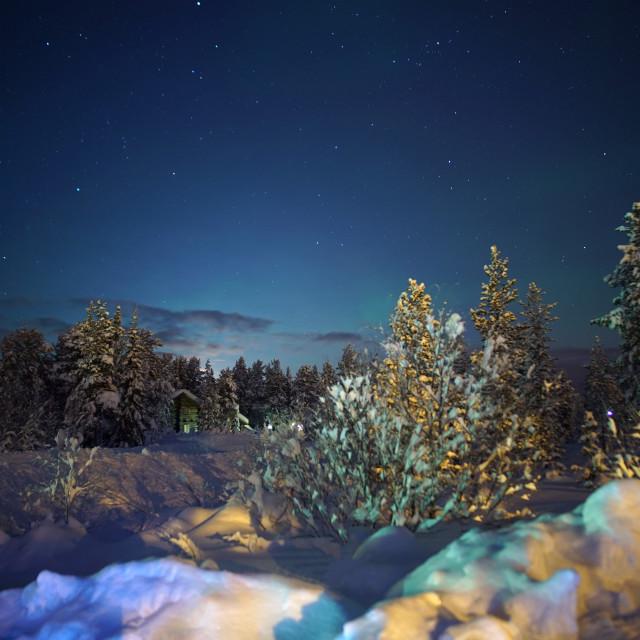 """Moonlight and stars"" stock image"