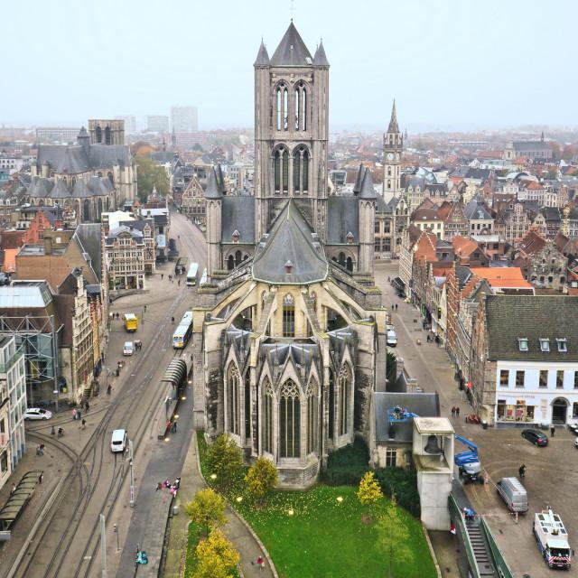 """Saint Bavo's Cathedral"" stock image"