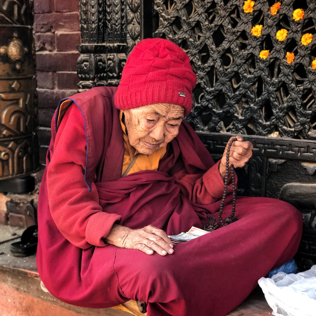 """Buddhist devotee"" stock image"