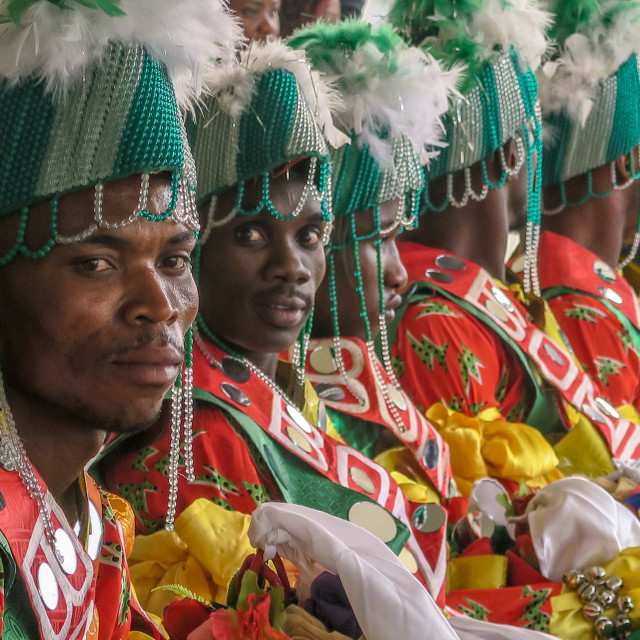 """Traditional Dancers, Bonny, Nigeria"" stock image"