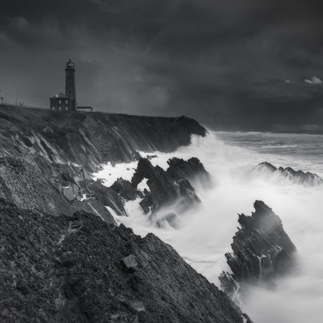 """Lighthouse storm"" stock image"
