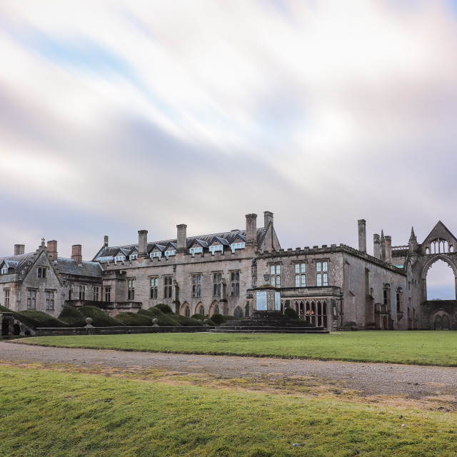 """Clouds over Newstead Abbey"" stock image"