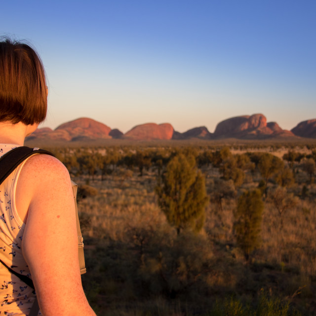 """Sunrise over Kata-Tjuta / The Olgas"" stock image"