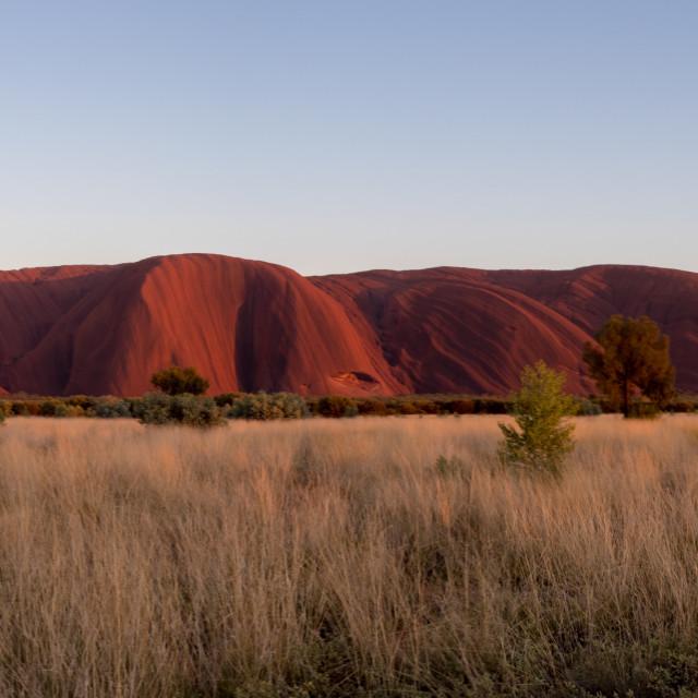 """Sunrise over Uluru / Ayers Rock"" stock image"
