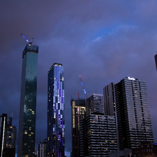 """""""Melbourne at night"""" stock image"""