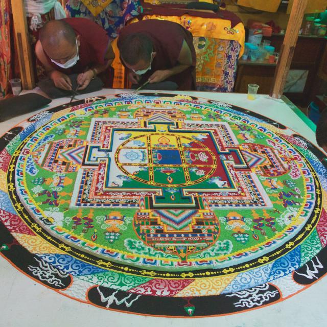 """""""Sand Mandala"""" stock image"""