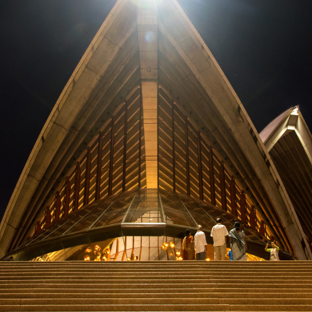 """Sydney Opera House at night"" stock image"