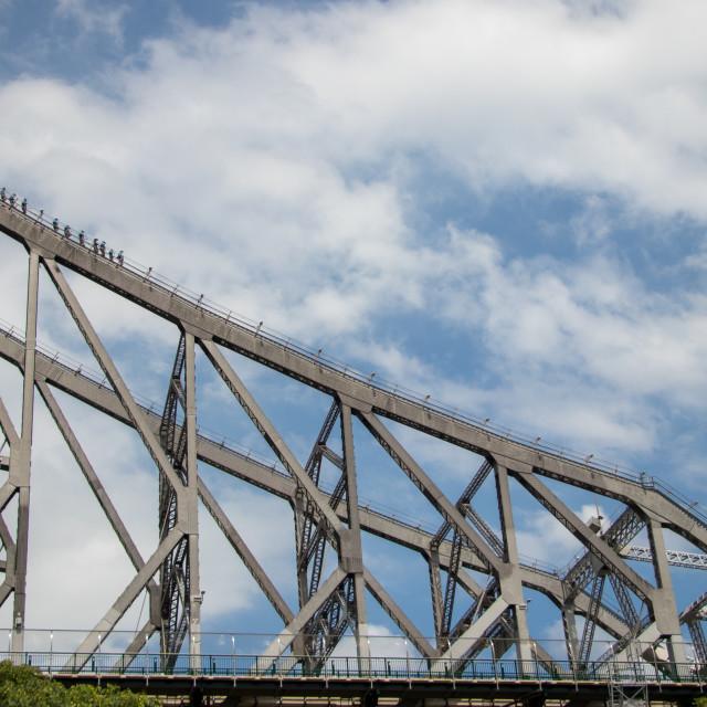 """Brisbane bridge climbers"" stock image"