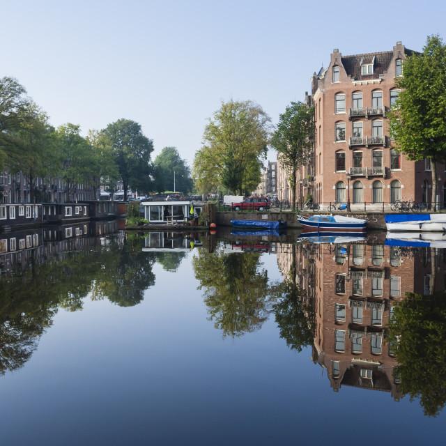"""Stadsbeeld van Amsterdam, Cityscape of Amsterdam"" stock image"