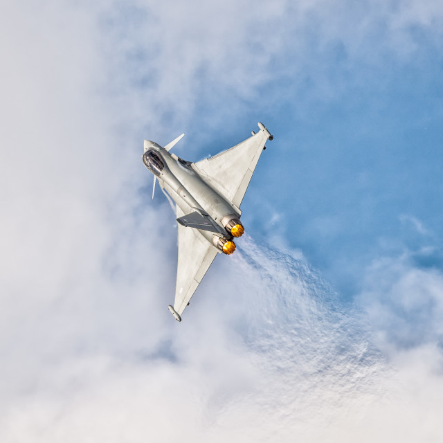 """RAF Typhoon - Southport"" stock image"