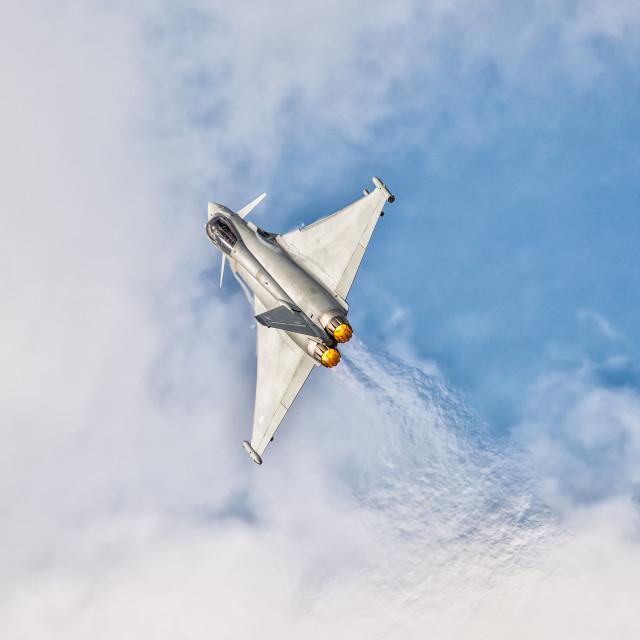 """RAF Typhoon - Southport"" stock image"