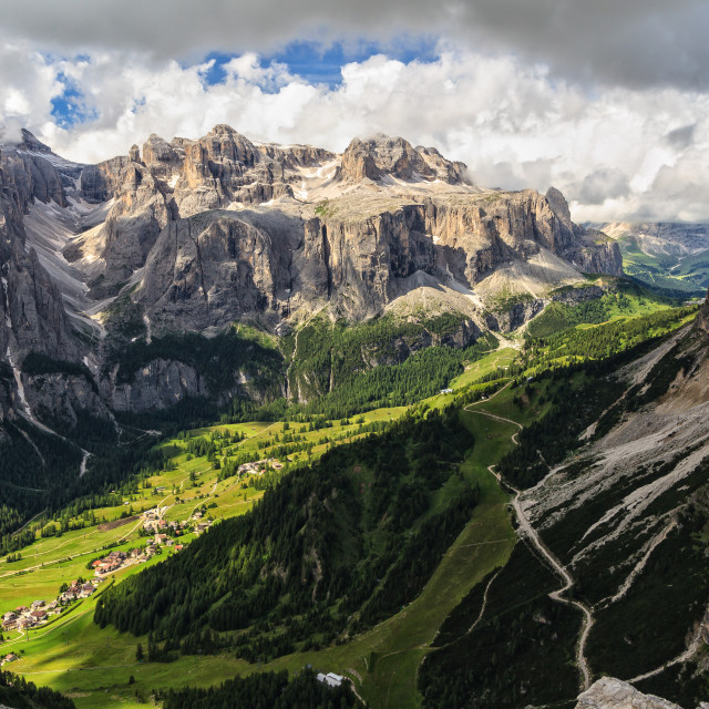 """high Badia Valley in Dolomites"" stock image"