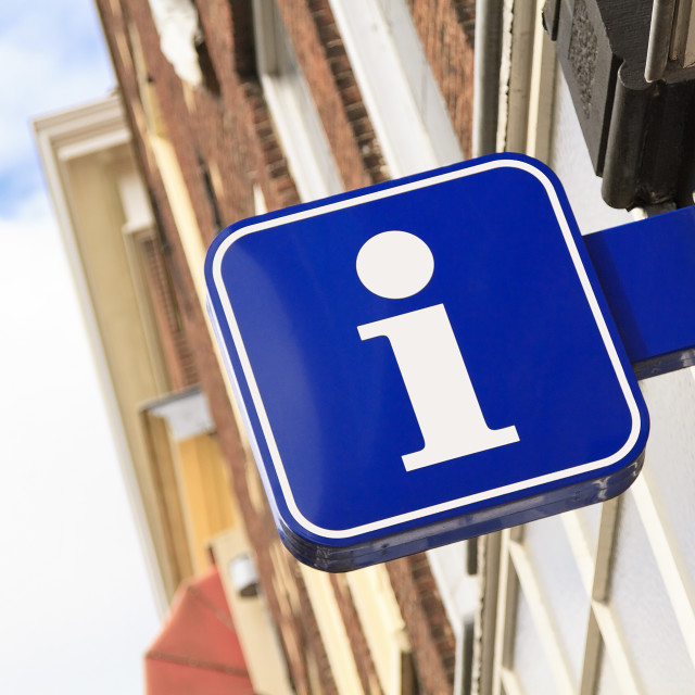 """""""Tourist information sign"""" stock image"""