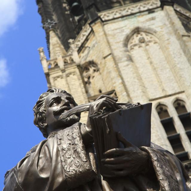 """""""Statue of Hugo de Groot"""" stock image"""