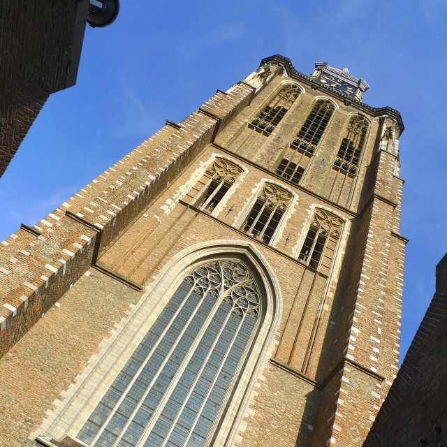 """""""Imposing Dordrecht cathedral"""" stock image"""