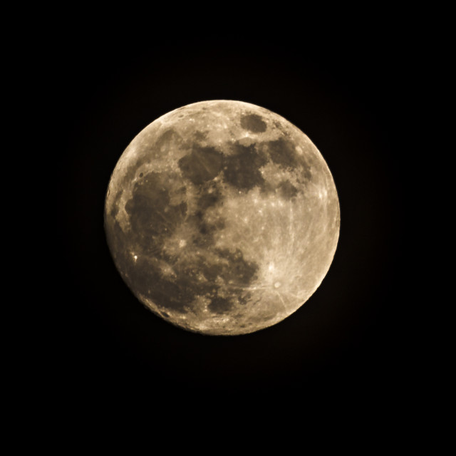 """Super Moon from Notting Hill London"" stock image"