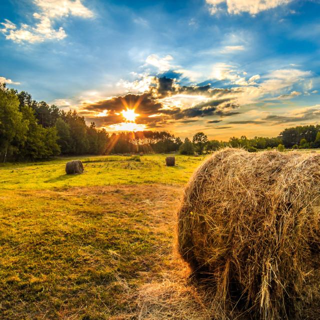 """""""Kalety Sunset"""" stock image"""