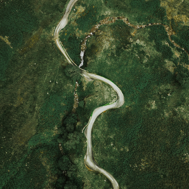 """Drone Path"" stock image"