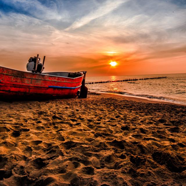 """Baltic Sunset"" stock image"