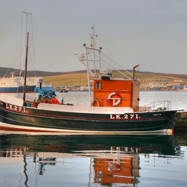 """""""Museum Boat at Lerwick"""" stock image"""