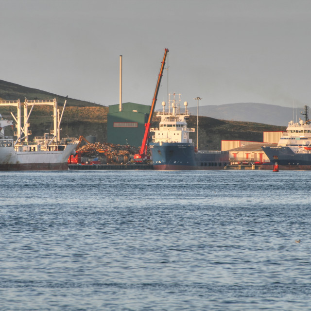 """Lerwick Harbour"" stock image"