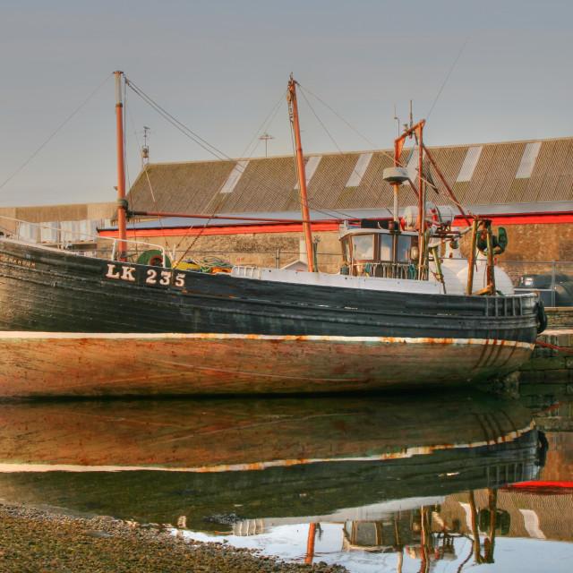 """museum boat, Lerwick"" stock image"