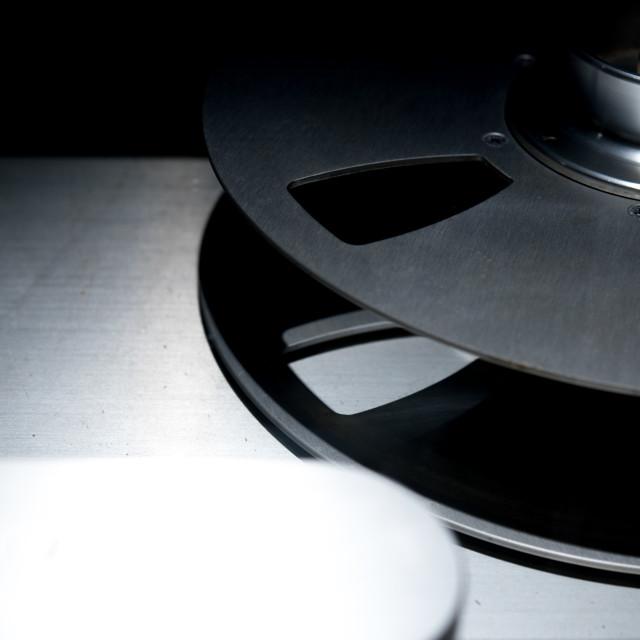 """Vintage professional sound tape recorder detail"" stock image"
