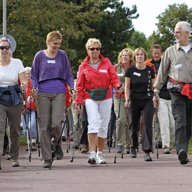 """""""Nordic walking race"""" stock image"""