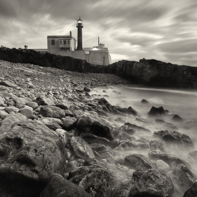 """""""Cape Raso lighthouse in Cascais Portugal"""" stock image"""