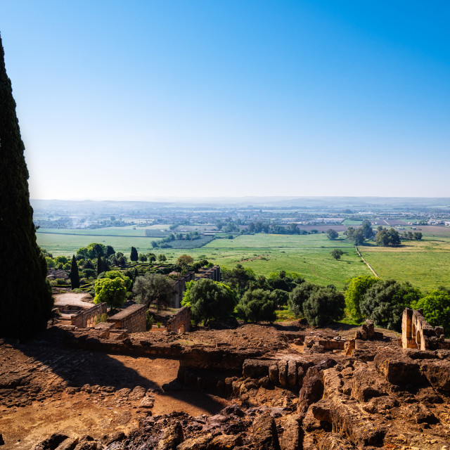 """""""Scenic view of archeological set of Madinat al-Zahra"""" stock image"""