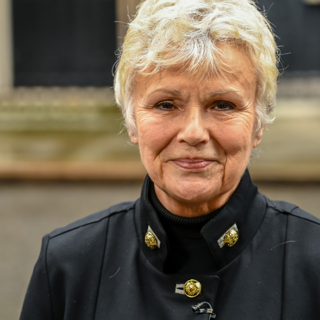 """""""Actor, writer and director, Julie Walters, in Downing Street, Lo"""" stock image"""