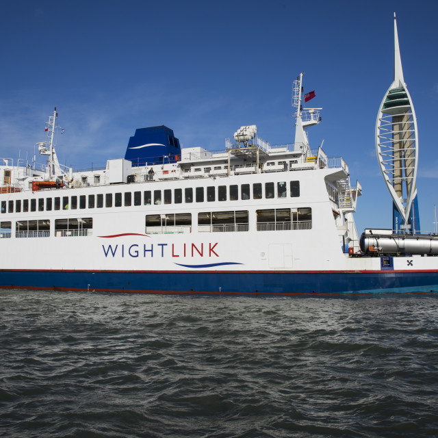 """St Faith ferry leaving Portsmouth"" stock image"