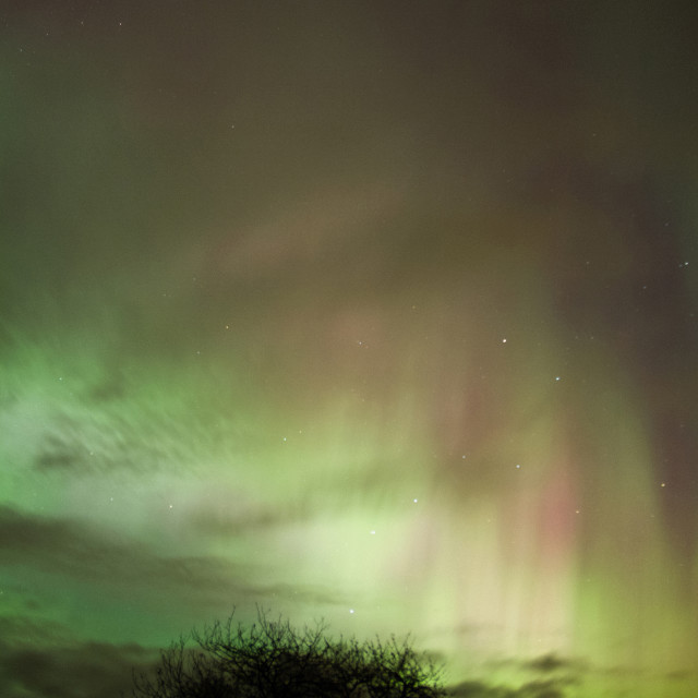 """Aurora Cloudy Display"" stock image"