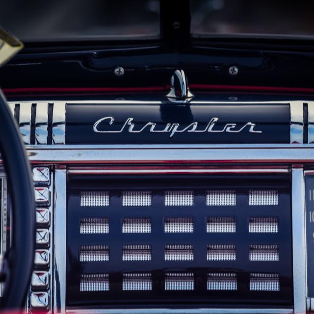 """Chrysler Dashboard"" stock image"