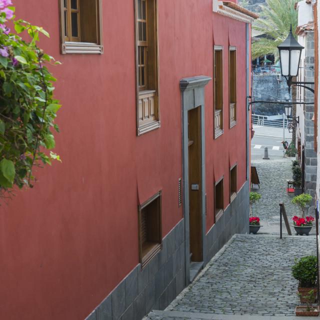 """Alley in Garachico"" stock image"