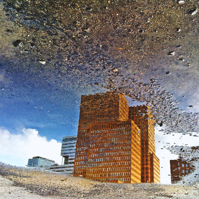 """Amsterdam zuidas- reflected"" stock image"