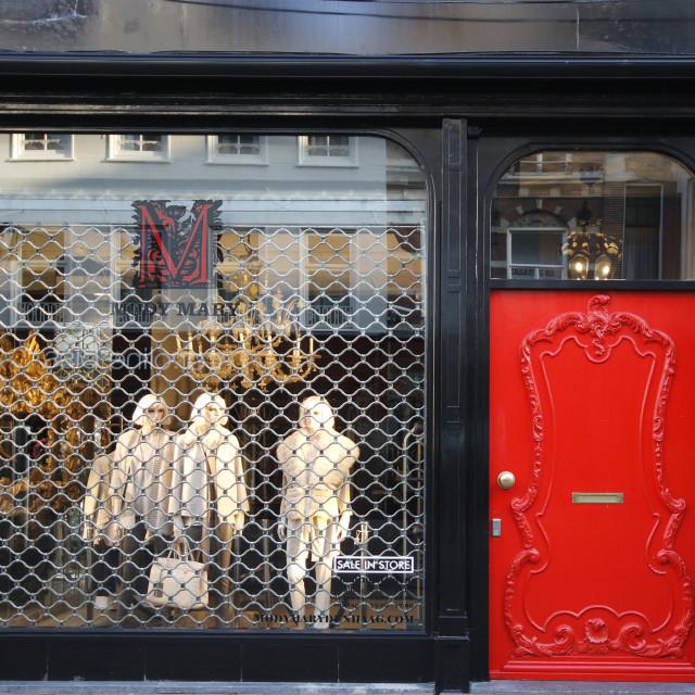 """""""Little Red Door"""" stock image"""