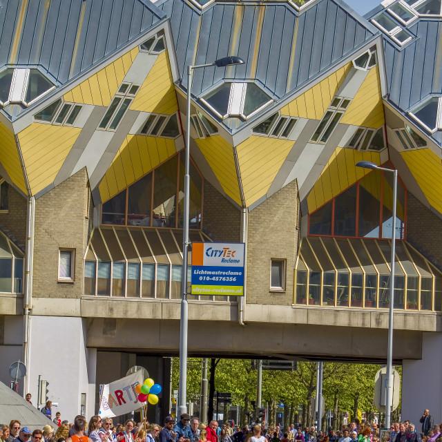 """Rotterdam marathon"" stock image"